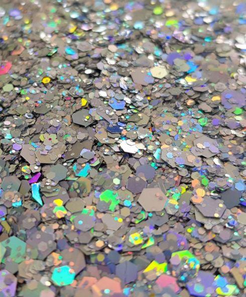 Illuminatie Chunky Glittermix, glitters zilver kopen