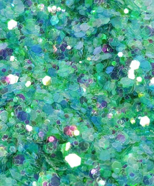 Neptune Chunky Glittermix, groene glitter kopen festival