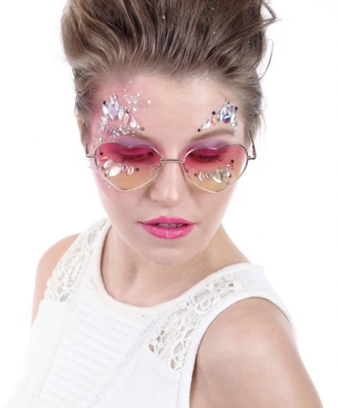 Candy Butterfly Face Jewels, glitter festival