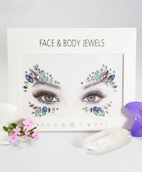 Peacock Butterfly Face Jewels, festival gezicht sticker kopen