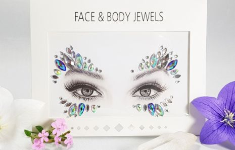 Peacock Butterfly Face Jewels