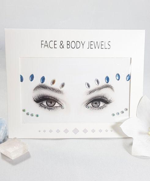 MoonShine Face Jewels, Glittersteentjes voor gezicht voor festival en feesten party make up kopen