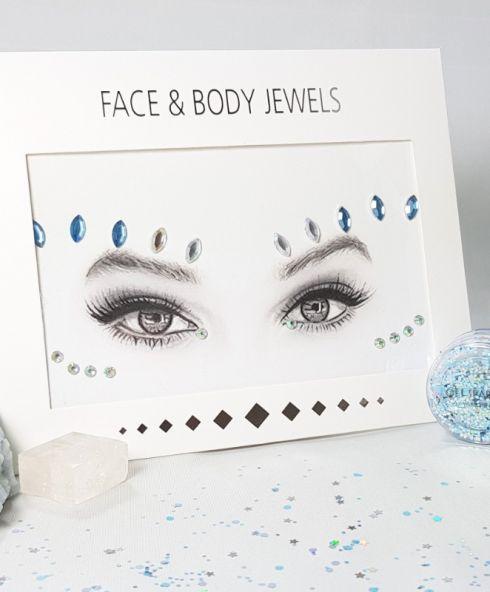 MoonShine Face Jewels, Glittersteentjes voor gezicht voor festival en feesten partybus kopen