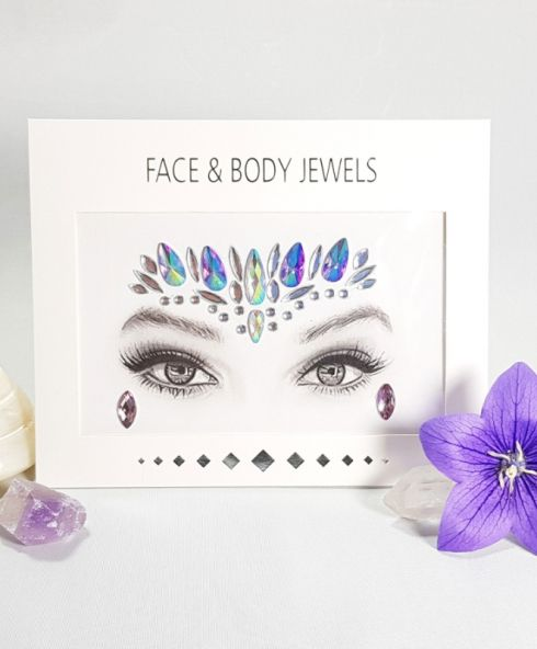 Unicorn Queen Face Jewels Paars
