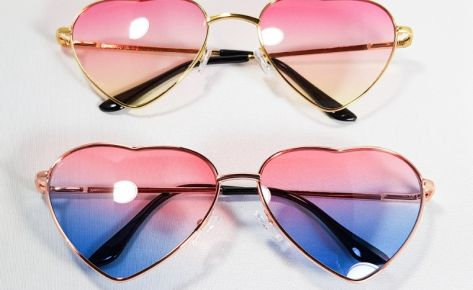 Heart-Shaped Ombre Sunnies