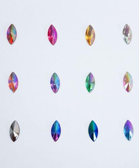 Cat-eye Jewels 15 mm Colours, gaypride glitter steentjes festival gezicht make up kopen