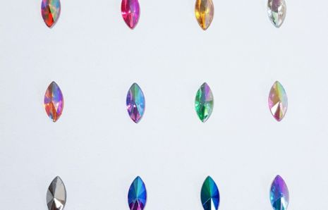 Cat-eye Jewels 15 mm Rainbow Shine Colours
