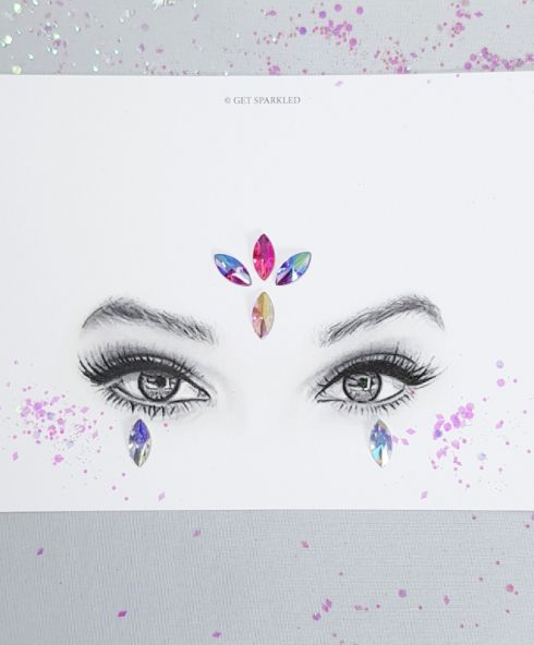 Cat-eye Jewels 15 mm Crystal, Diamand stenen Festival gezicht make up kopen