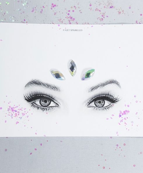 Cat-eye Jewels 20 mm Crystal, Diamand stenen Festival gezicht make up kopen