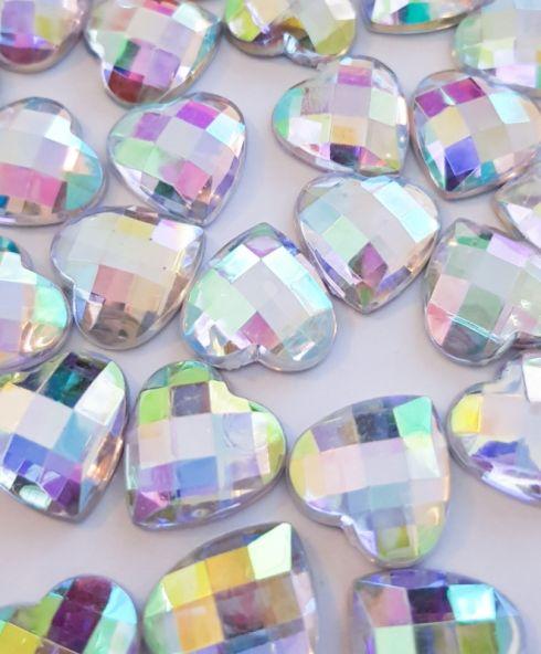 Heart Jewels 14 mm Crystal, Festival Glitter Stenen Hartje hart kopen