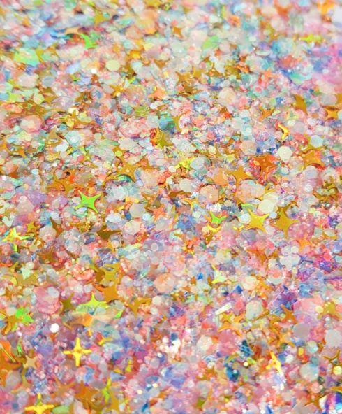 Dreamy Rainbow Sparkle Chunky Glittermix, glitter kopen