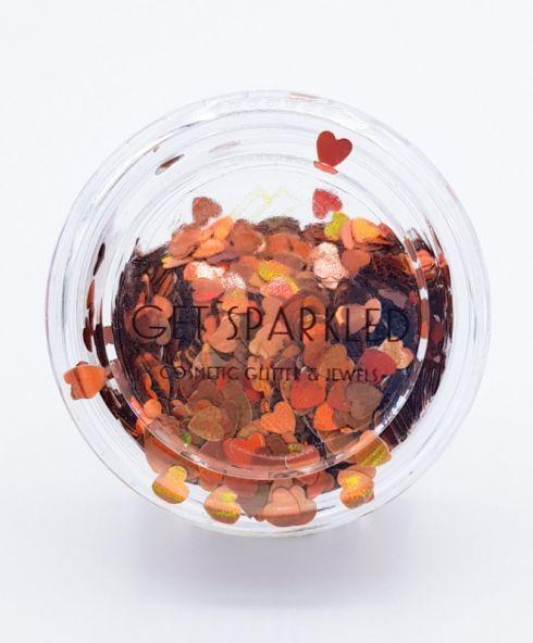 Orange Heart Glitters, Koningsdag make up outfit glitter kopen