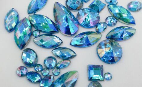Rainbow Shine Mixed Jewels – Blue