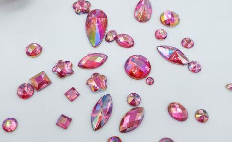 Rainbow Shine Mixed Jewels – Dark Pink