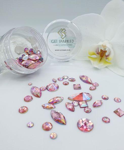 Rainbow Shine Mixed Jewels light pink, roze jewel diamand steentjes kopen