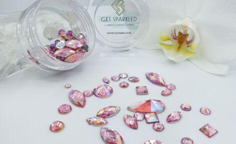 Rainbow Shine Mixed Jewels – Light Pink