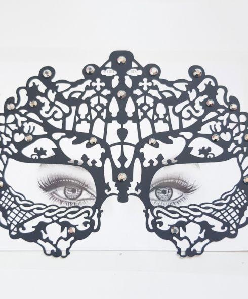 Sexy Face Lace Mask Jewel Sticker, Masker Make Up Wasteland latex glitter