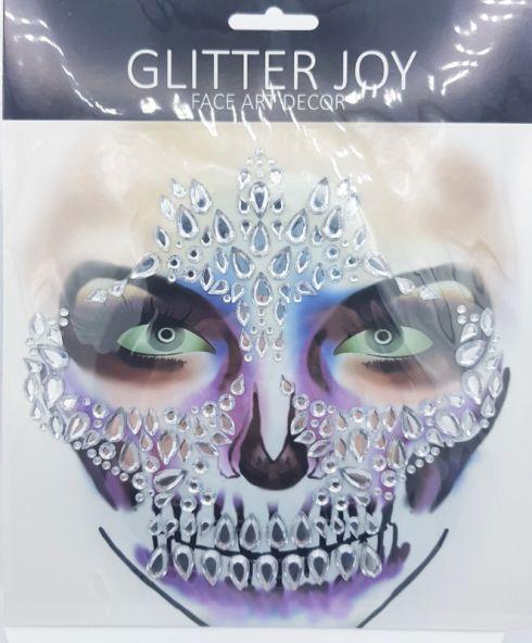 Shiny Candy Skull Jewel Sticker, halloween make up glitter kopen
