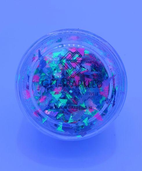 Grease Lightning Chunky Glittermix, 90's 80's party glitter, foute prty make up, kopen