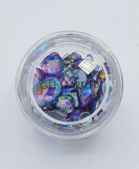 Rainbow Shine Mixed Jewels Purple, ixed jewels voor festival make up kopen