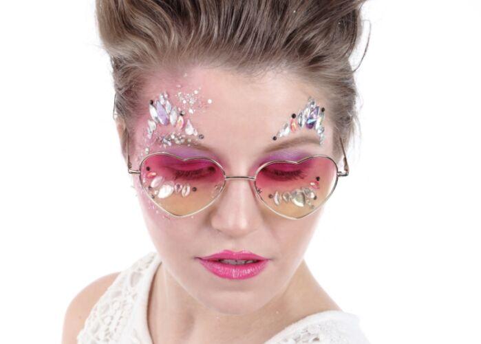 Hartjes zonnebril, festival bril, festival zonnebril