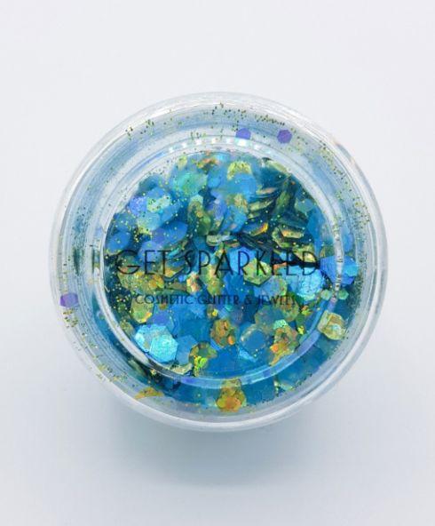Turquoise Treasure Biodegradable Glittermix, Acheter des paillettes biodégradables