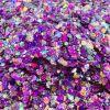Purple Passion Chunky Glittermix, cosmetische glitter make up kopen
