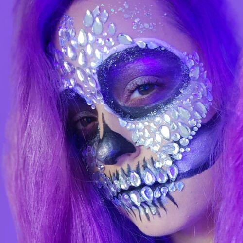 Candyskull glitter design voor halloween themafeest of festival, koop jouw glitters nu online in onze webshop