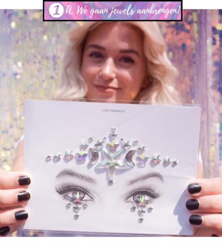 Tips en tricks voor het aanbrengen van festival jewels voor op het gezicht.