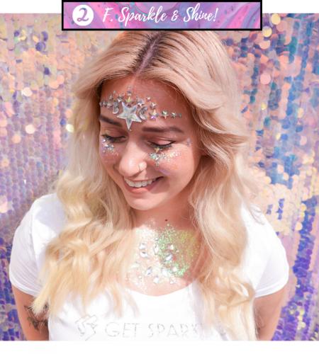 Tips en tricks om te glitteren en te shinen! Hoe breng ik glitters aan en verwijder ze weer van mijn huid.