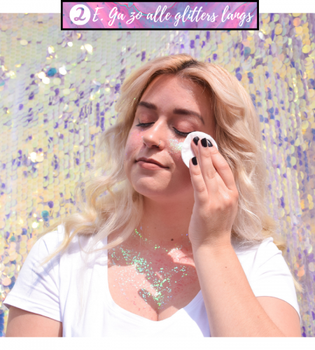 Zo verwijder je glitters van jouw huid