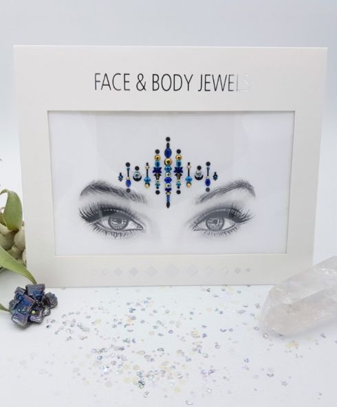Face jewels voor psychedelic festival kopen