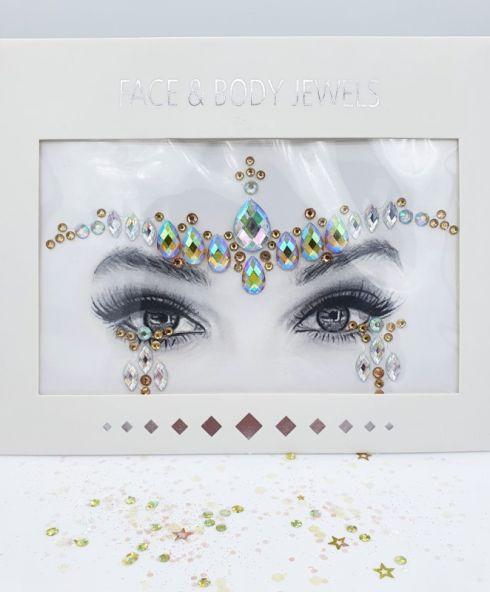 Mooie Glitter Face Jewel Stickers voor een themafeestje, Arabian Nights Thema, Festival